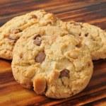 Chocolate chip Macadamia nut cookies — Stock Photo