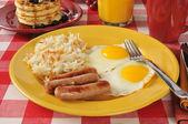 Párky a vajíčka — Stock fotografie