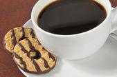 Cookies et les closeup café — Photo