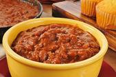 Bowl of chili — Stock Photo