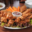 Stock Photo: Chicken wing party tray
