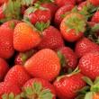 Stock Photo: Background of fresh strawberries