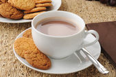 Cookies and hot chocolate — Stock Photo