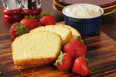 Strawberry shortcake ingredients — Stock Photo
