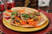 Flatbread sandwich — Stock Photo