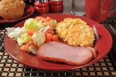 Ham and potatos — Stock Photo