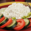 Cottage cheese salad — Stock Photo