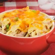 Stock Photo: Tuncasserole with cheese