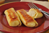 Potato blintzes — Stock Photo