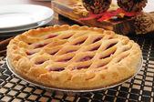Whole cherry pie — Stock Photo