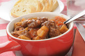 Closeup of beef stew — Stock Photo