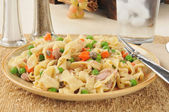 Tuna noodle casserole — Stock Photo