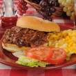 Barbecue beef sandwich — Stock Photo