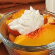 Peaches and cream — Stock Photo