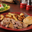 Pork roast dinner — Stock Photo