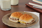 Cheeseburger sliders after school — Stock Photo