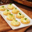 Deviled egg appetizers — Stock Photo