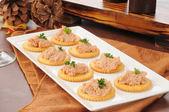 Deviled ham canapes — Stock Photo