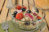 Greek style cole slaw — Stock Photo
