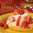 Stock Photo: Strawberry shortcake on a holiday table