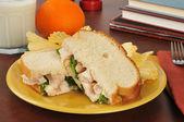 Delicious chicken sandwich — Stock Photo