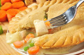 Chicken pot pie closeup — Stock Photo
