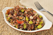 California red quinoa salad — Stock Photo