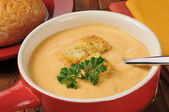 Creamy lobster bisque with sherry — Stock Photo