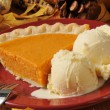 Sweet potato pie al a mode — Stock Photo