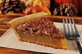 Slice of pecan pie — Stock Photo