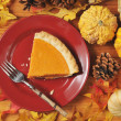 Slice of pumpkin pie — Stock Photo