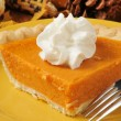 Stock Photo: Sweet potato pie closeup