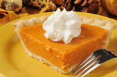 Sweet potato pie closeup — Stock Photo