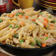 Tuna casserole in a skillet — Stockfoto