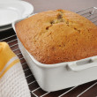 Fresh baked banana bread — Stock Photo