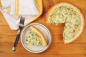 Quiche Florentine — Stock Photo