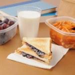 School sack lunch — Stock Photo