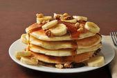 Banana pancakes — Stock Photo