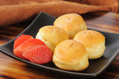 Mini cream puffs — 图库照片