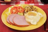 Ham dinner — Stock Photo