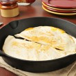 Cheddar cheese quesadillas — Stock Photo
