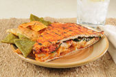 Southwestern chicken panini — Stock Photo