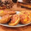 Stock Photo: Stuffed potato skins