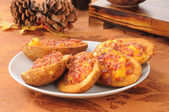 Stuffed potato skins — Stock Photo