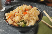 Shrimp fried rice — Stockfoto