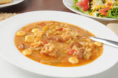 Chicken gumbo soup — Stockfoto