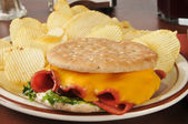 Fried bologna sandwich — Stock Photo