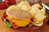 Fried baloney sandwich — Stock Photo