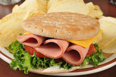 Baloney sandwich — Stock Photo