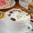 Hot chocolate and Christmas desserts — Stock Photo #36220985